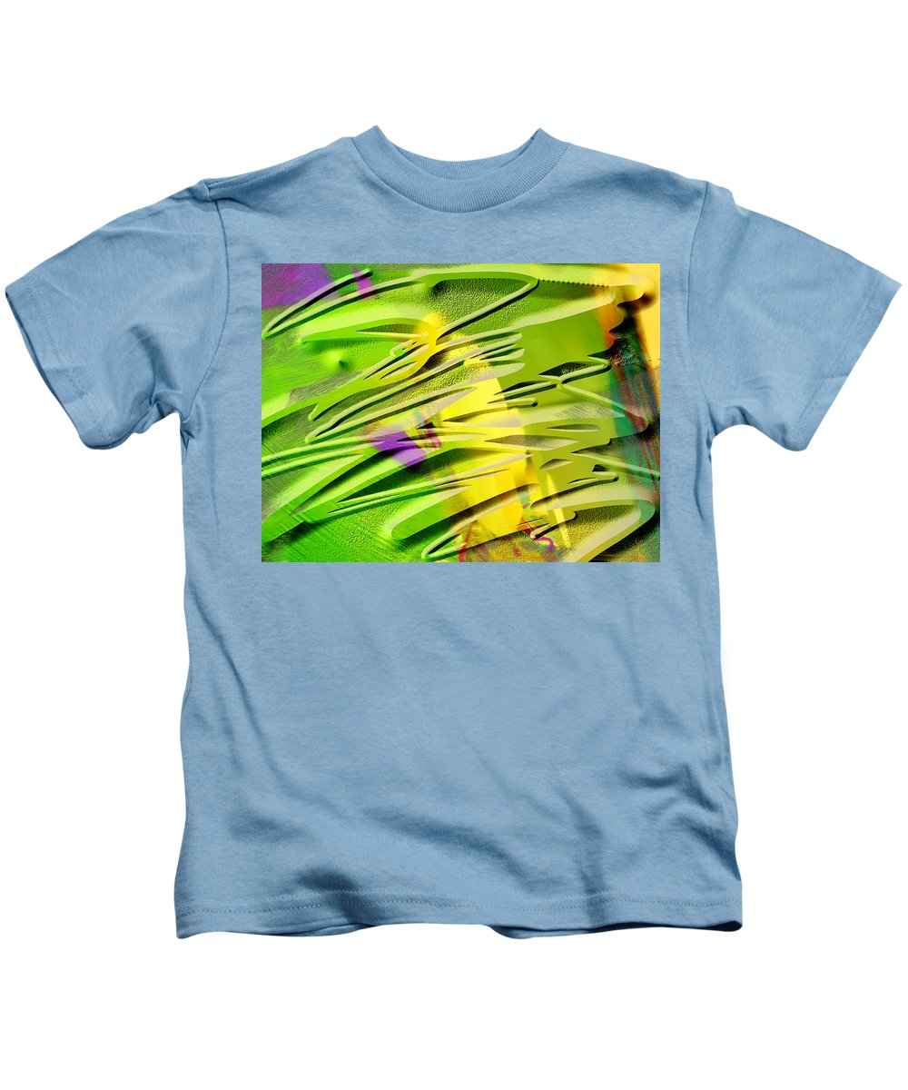 Scott Piers Kids T-Shirt featuring the painting P39b by Scott Piers