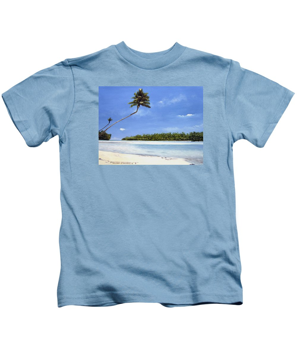 Palm Kids T-Shirt featuring the painting Pacific by Marc Stewart