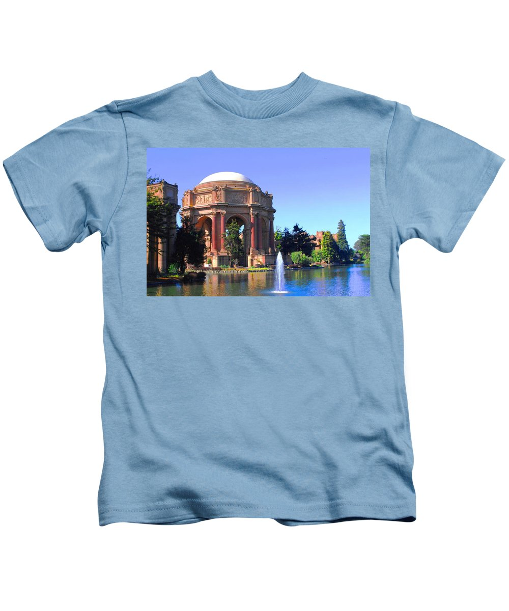 Palace Of Fine Art Kids T-Shirt featuring the photograph Palace Of Fine Arts by Natalie Ortiz
