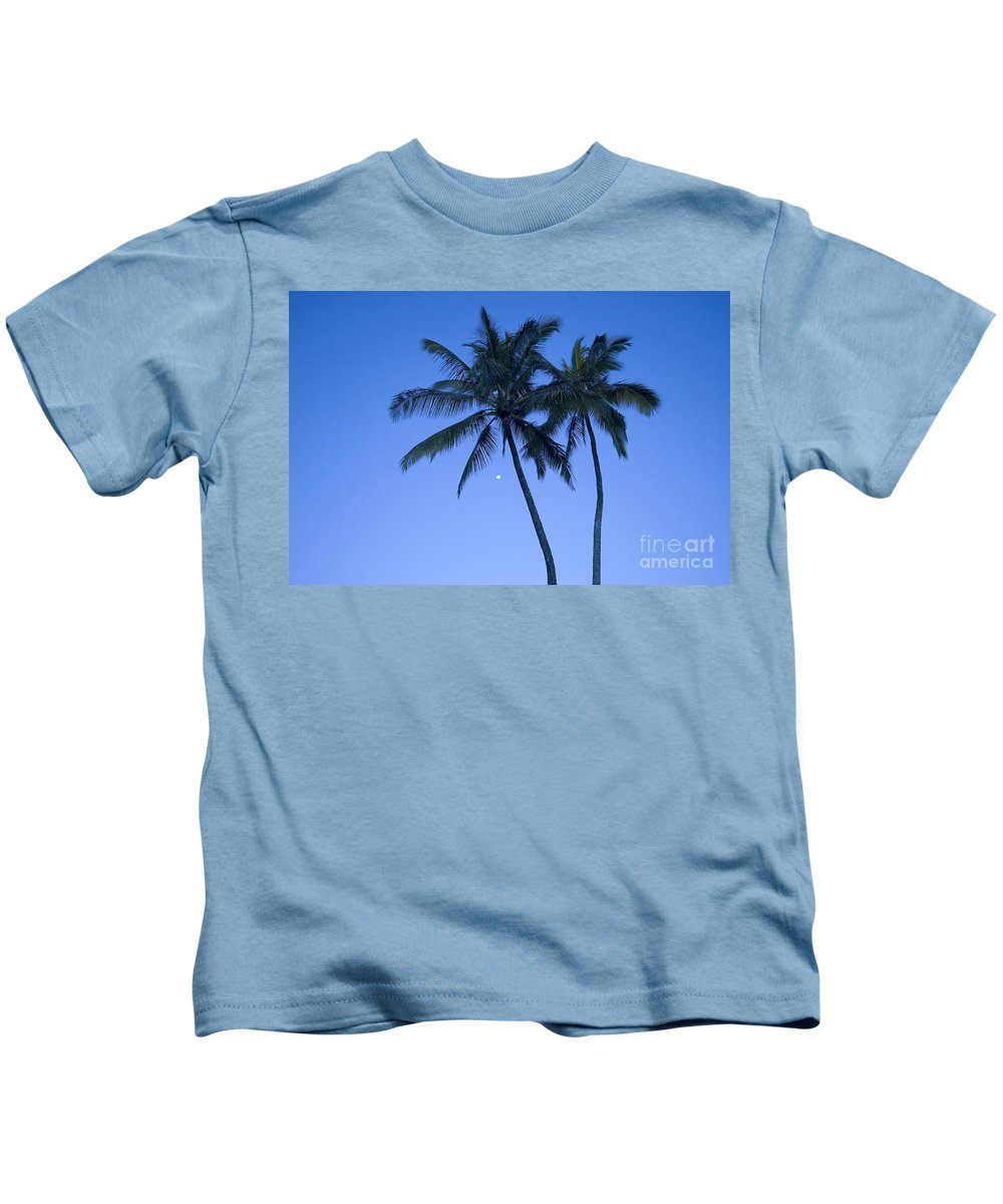 Afternoon Kids T-Shirt featuring the photograph Palms And Blue Sky by Ron Dahlquist - Printscapes