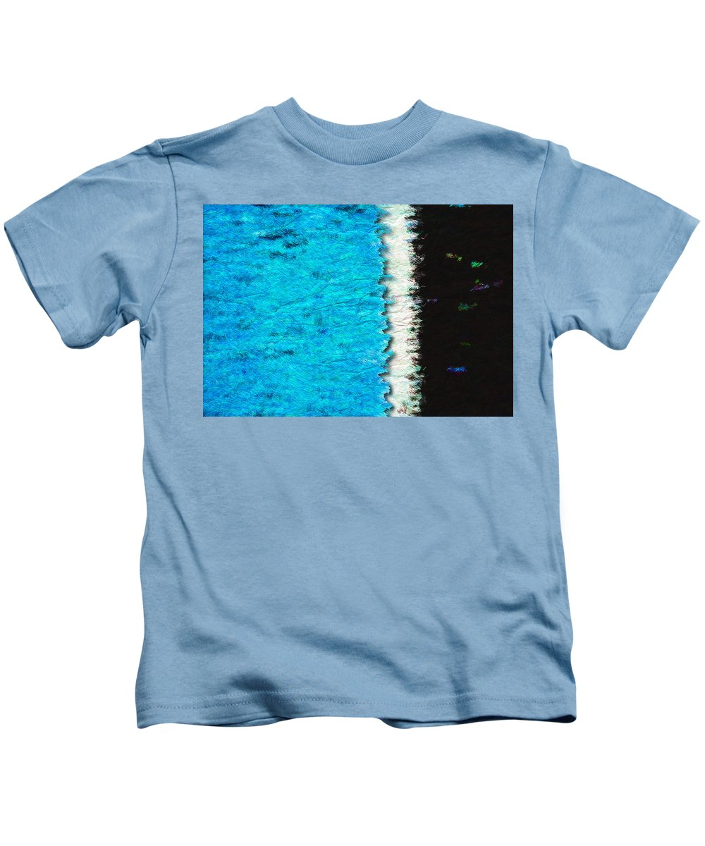 Blue Kids T-Shirt featuring the photograph Papier A La Main by Paul Wear