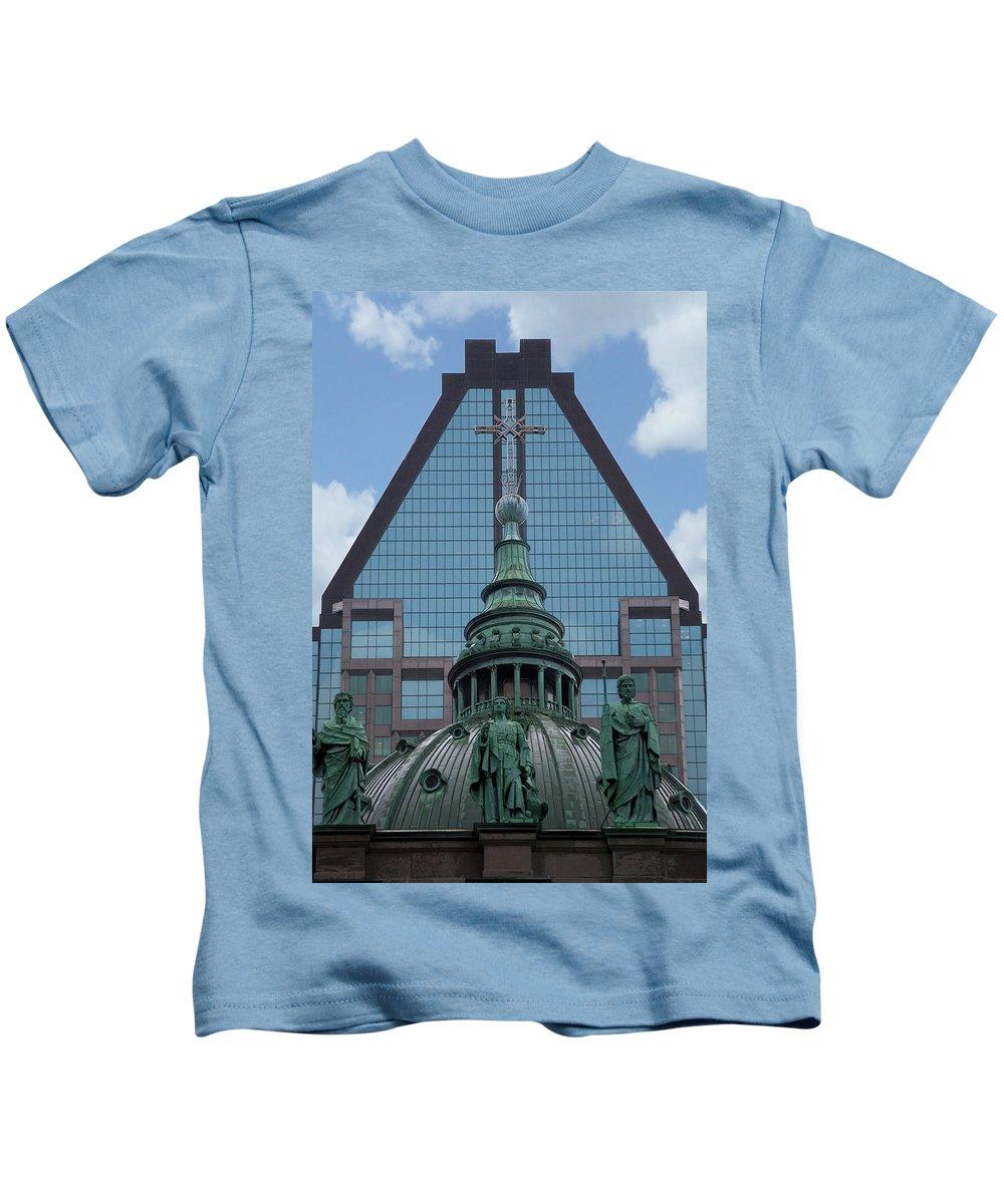 Interior Design Kids T-Shirt featuring the photograph Past Present Future by Lisa Knechtel