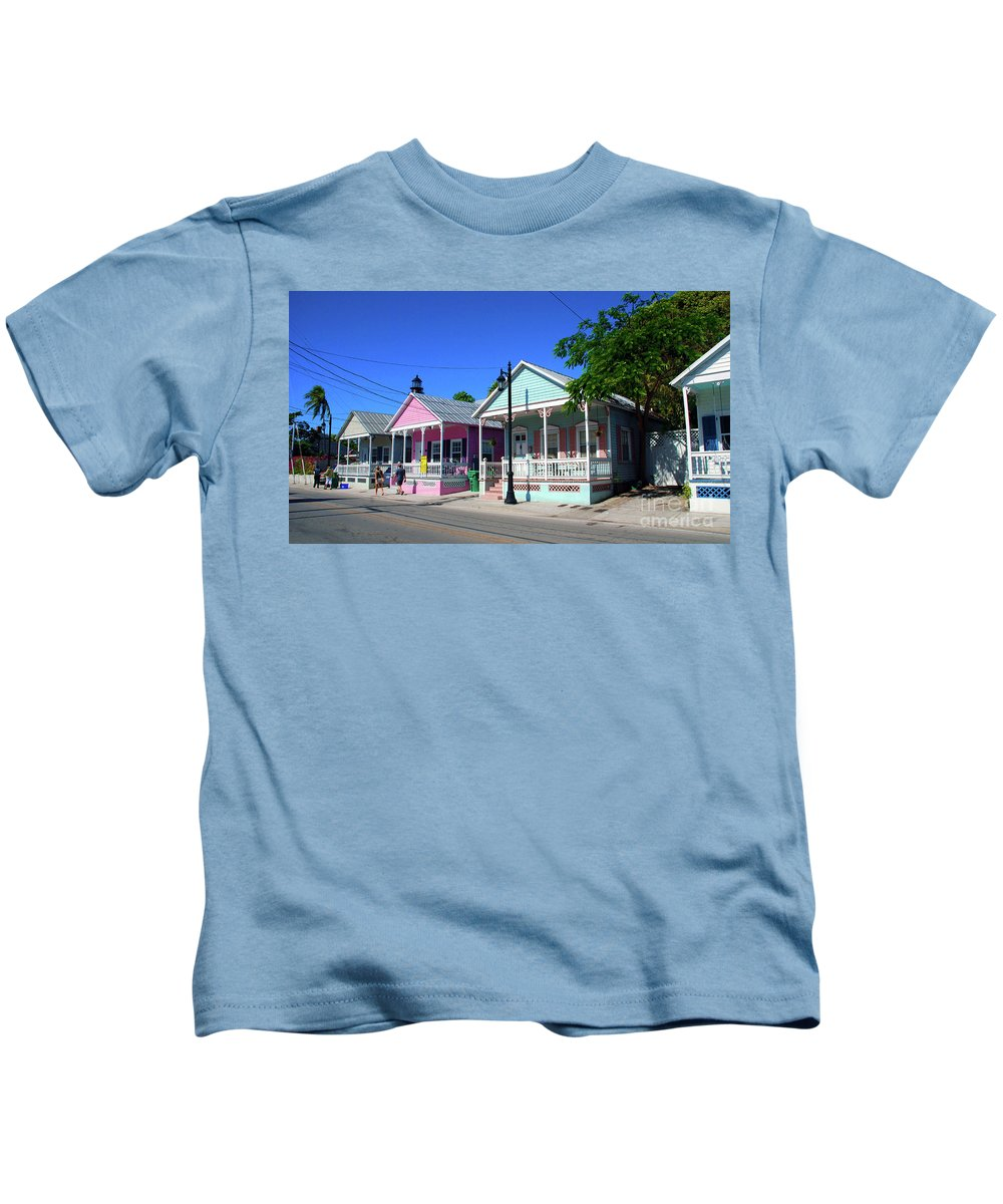 Key West Kids T-Shirt featuring the photograph Pastels Of Key West by Susanne Van Hulst