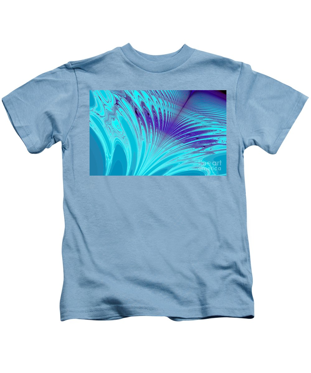 Clay Kids T-Shirt featuring the digital art Peacock by Clayton Bruster