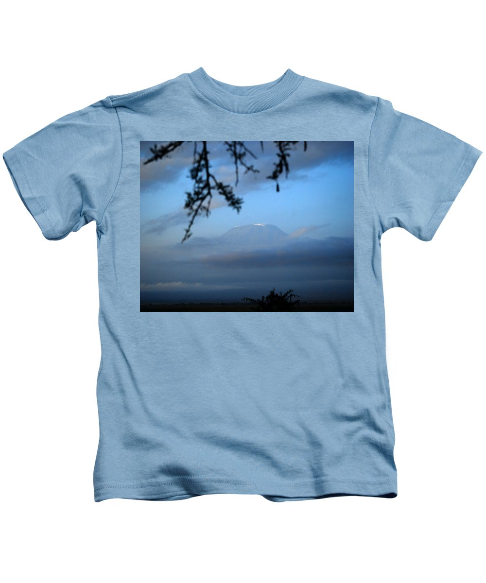 Africa Kids T-Shirt featuring the photograph Peaking Through by Pamela Peters