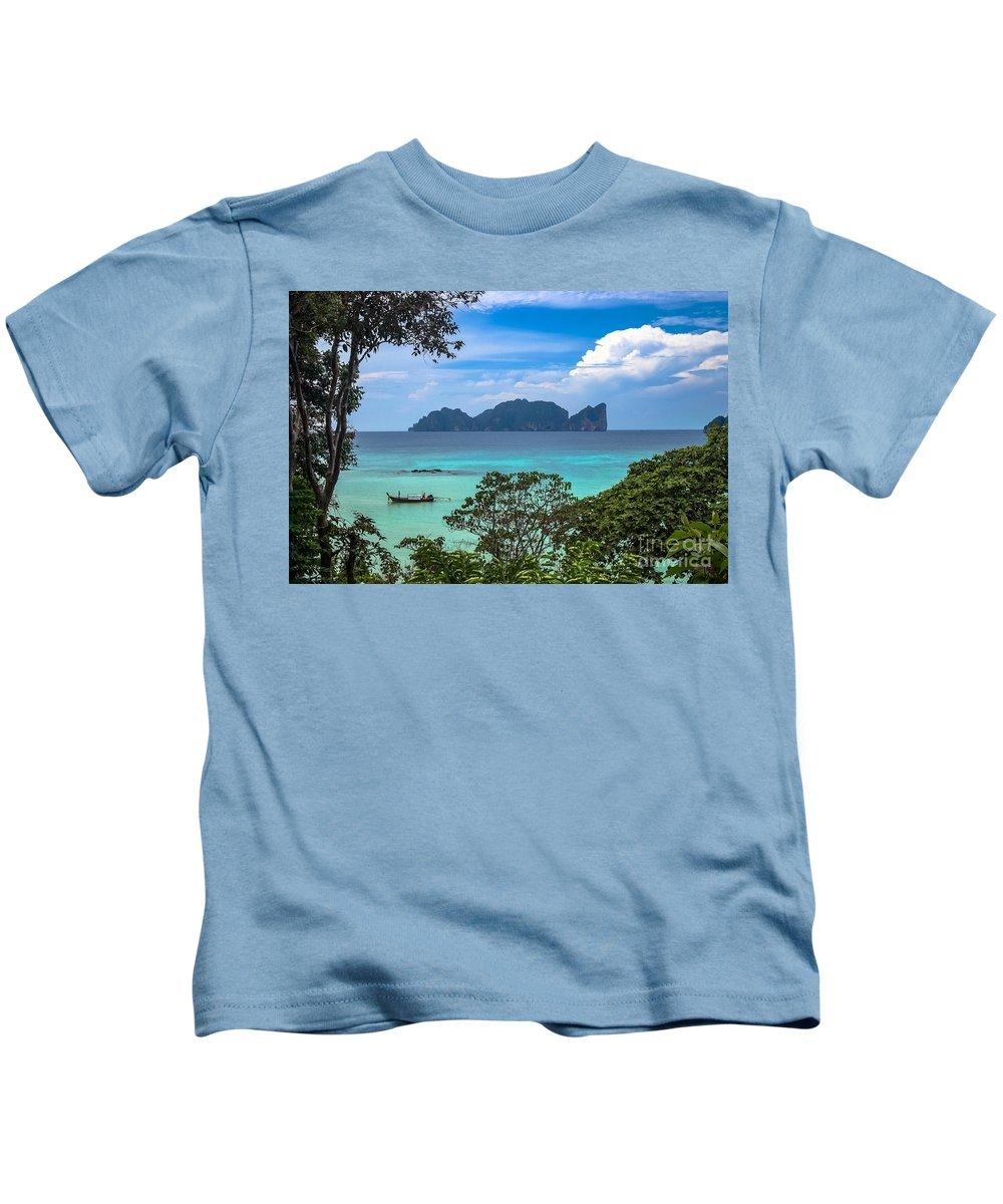 Thailand Koh Phi Phi Islands Kids T-Shirt featuring the photograph Phi Phi Islands by Nir Ben-Yosef