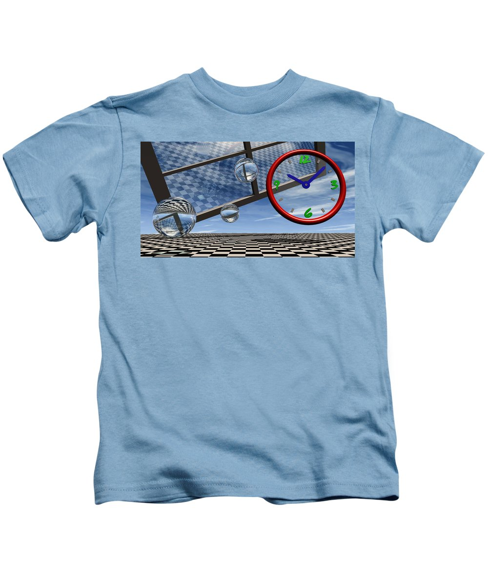 Surreal Kids T-Shirt featuring the digital art Play Time by Richard Rizzo