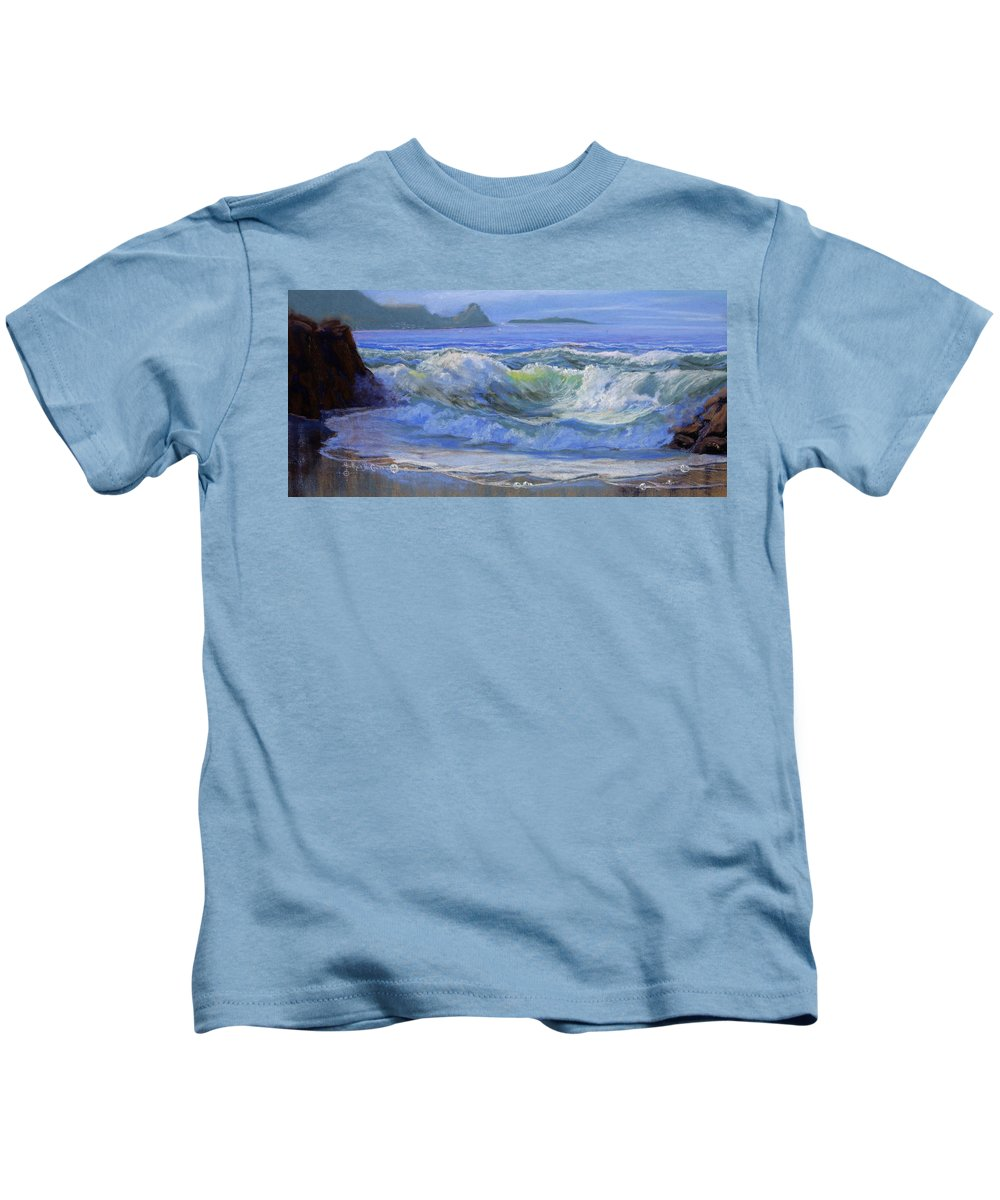 Seascape Kids T-Shirt featuring the painting Point Reyes by Heather Coen