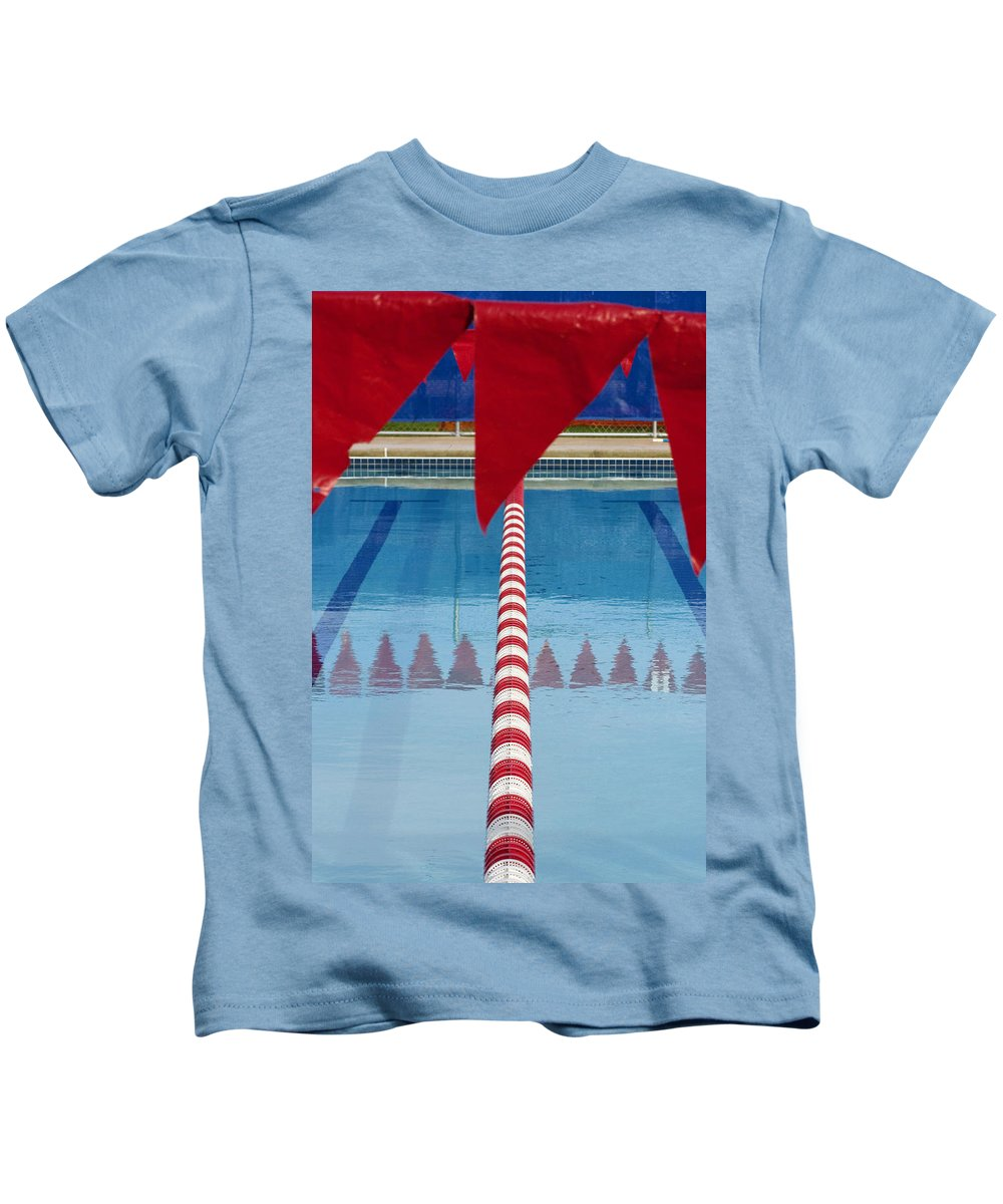 Flag Kids T-Shirt featuring the photograph Pool by Skip Hunt