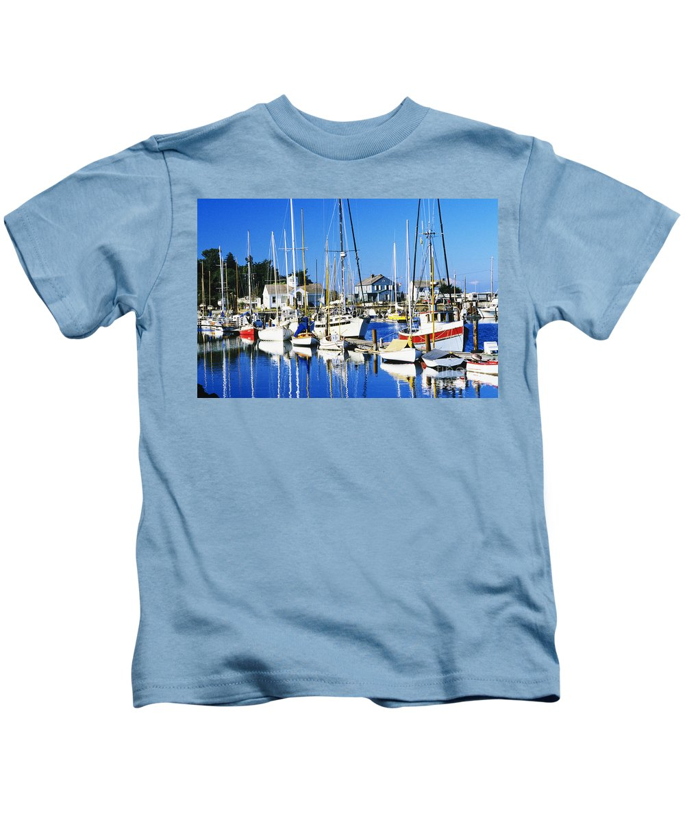 Anchor Kids T-Shirt featuring the photograph Port Townsend Harbor by Peter French - Printscapes