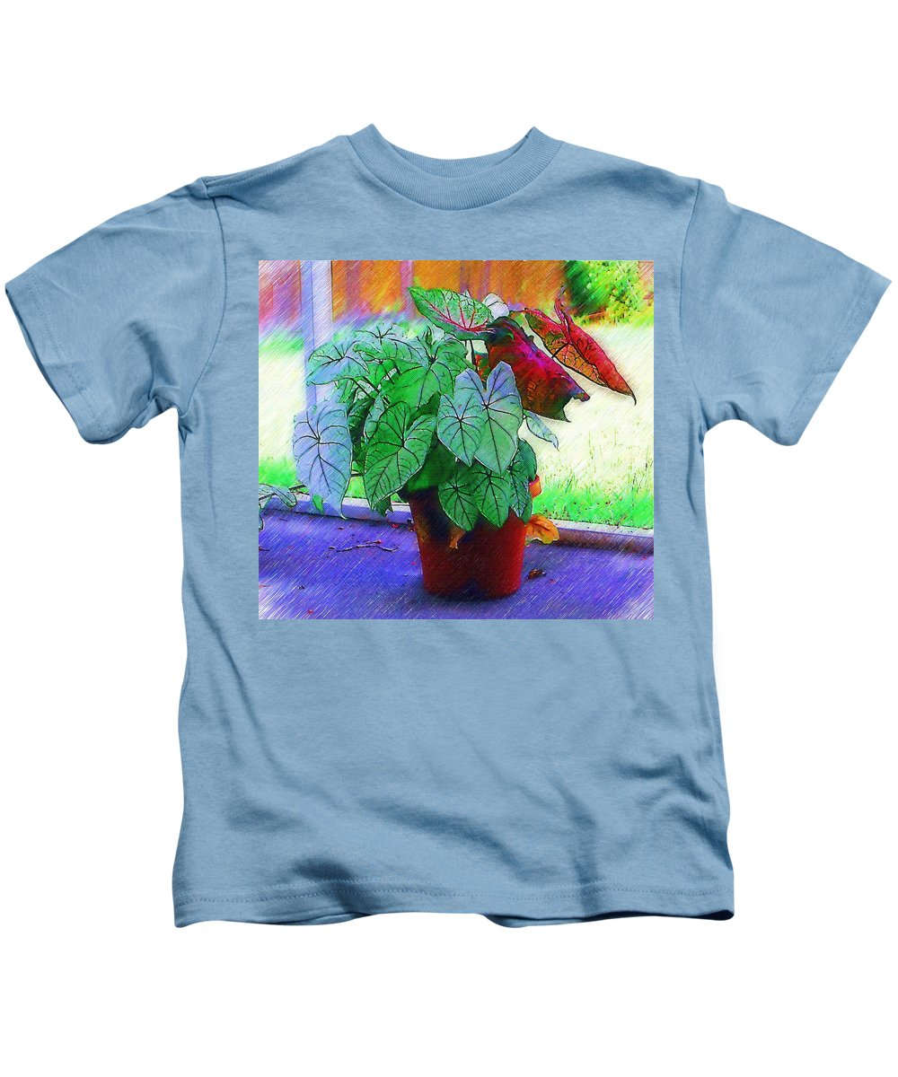 Garden Kids T-Shirt featuring the photograph Potted Plant by Donna Bentley