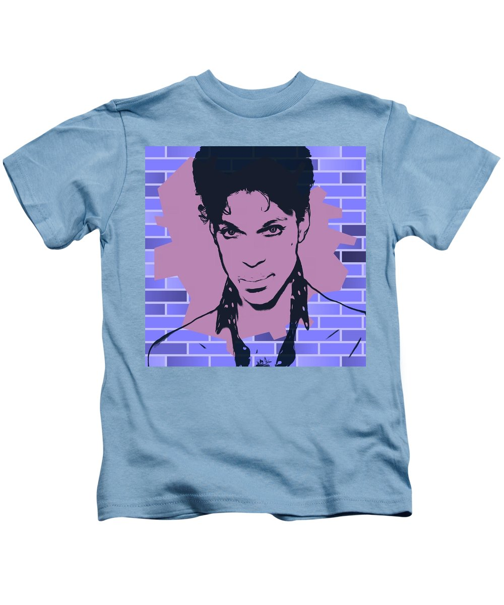 Prince Tribute Digital Art Kids T-Shirts