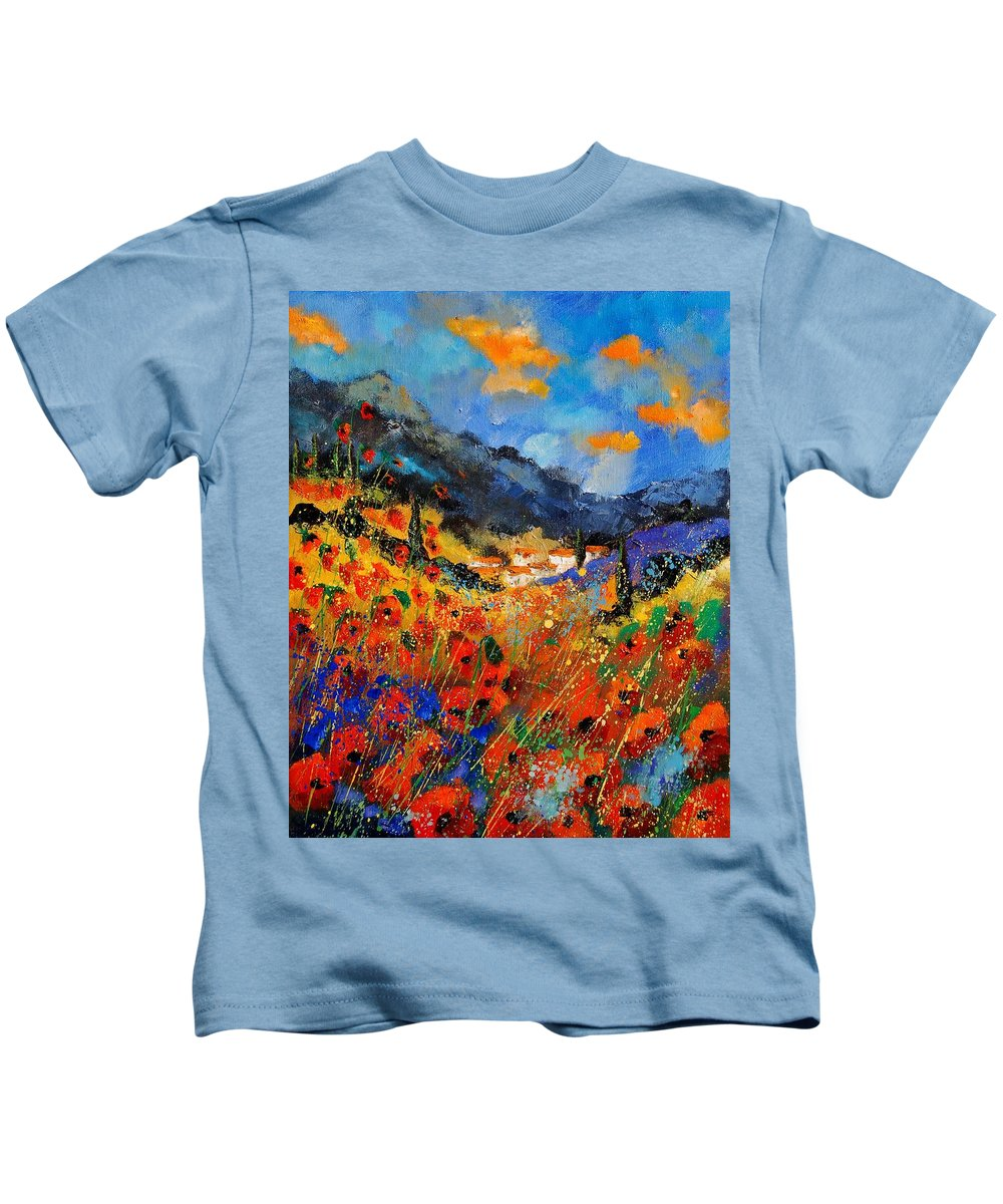 Kids T-Shirt featuring the painting Provence 459020 by Pol Ledent