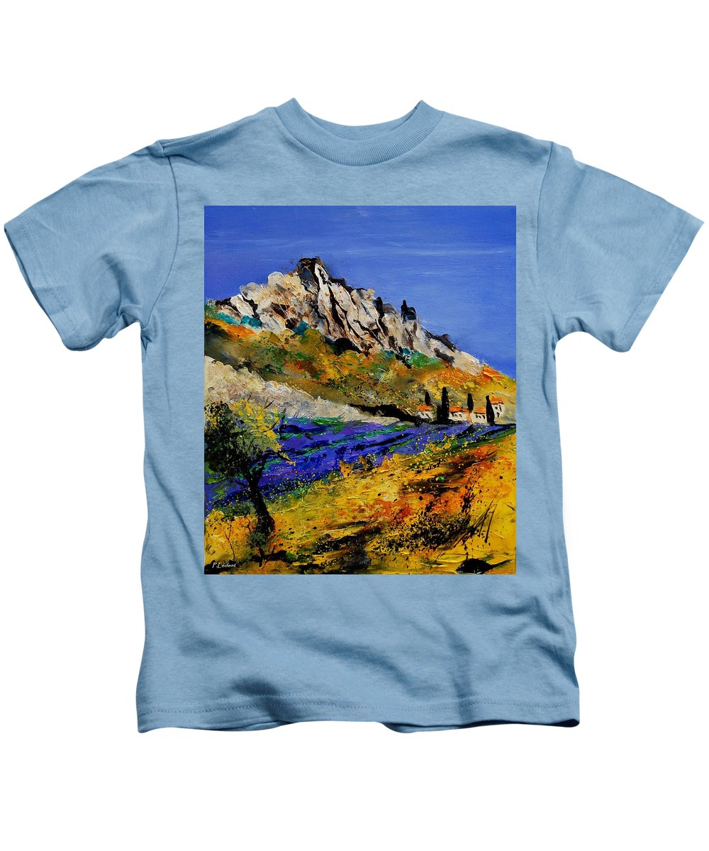 Flowers Kids T-Shirt featuring the painting Provence 560908 by Pol Ledent