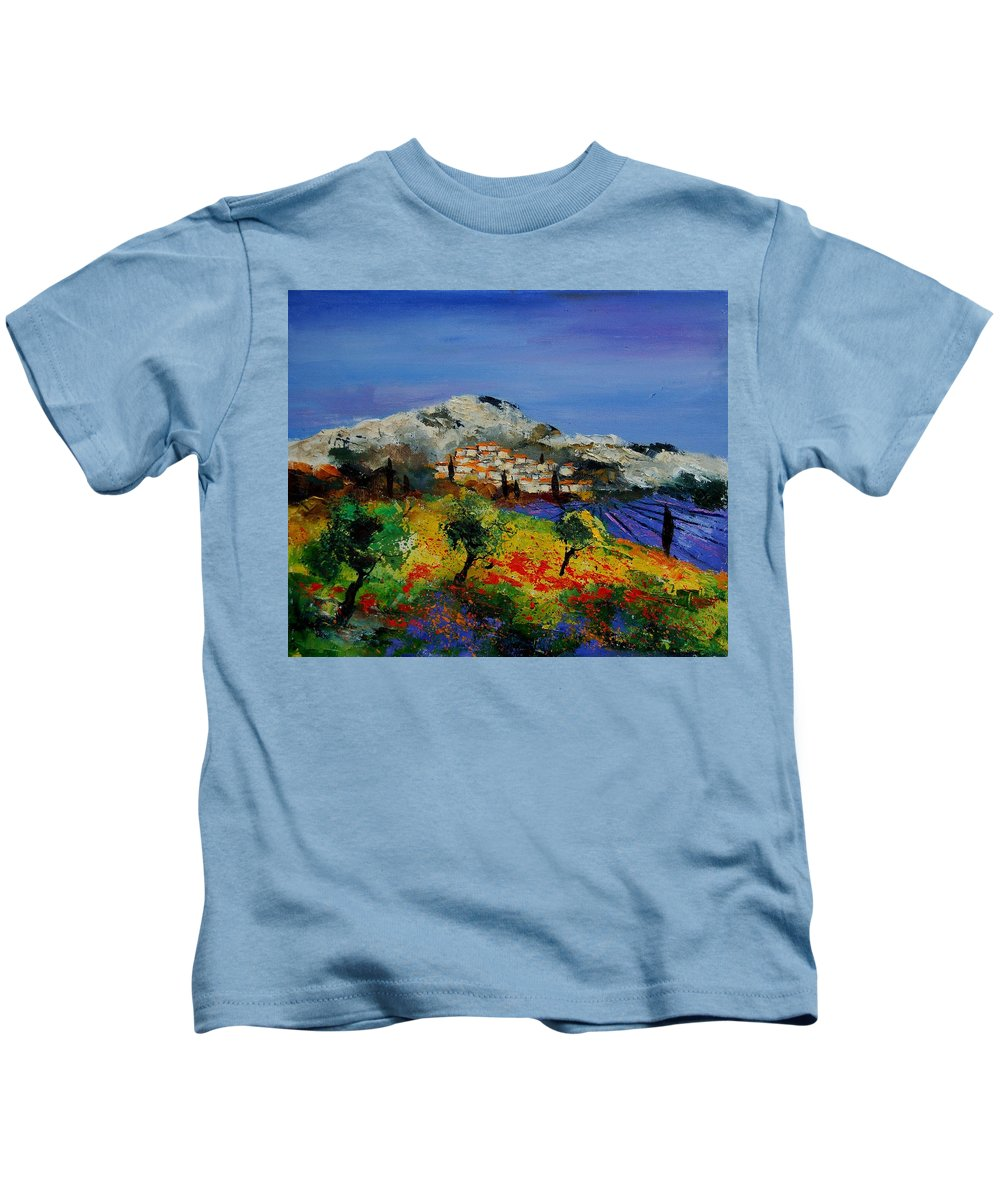 Provence Kids T-Shirt featuring the painting Provence 569010 by Pol Ledent