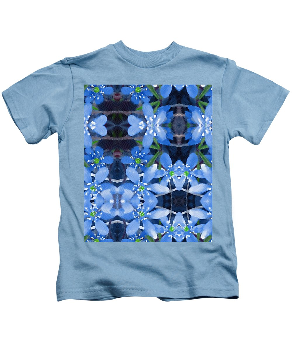 Flowers Kids T-Shirt featuring the mixed media Pure For Life by Pepita Selles