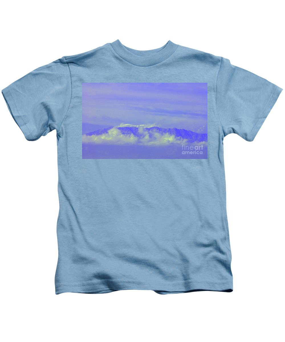 Cororna Kids T-Shirt featuring the photograph Purple Mountain's Majesty... by Tommy Anderson