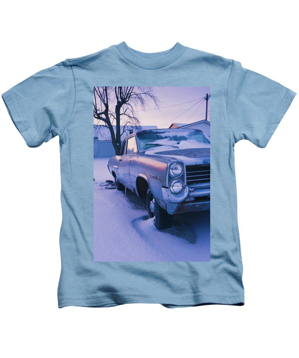 Pontiac Kids T-Shirt featuring the photograph Purple Pontiac by David Jilek