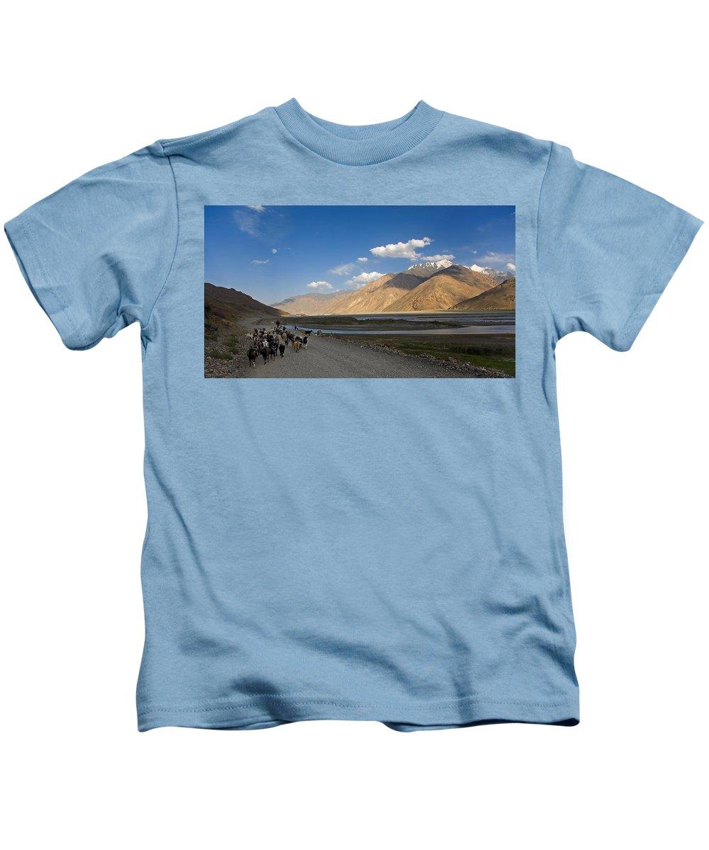 Animal Kids T-Shirt featuring the photograph Pyandzh Valley by Konstantin Dikovsky