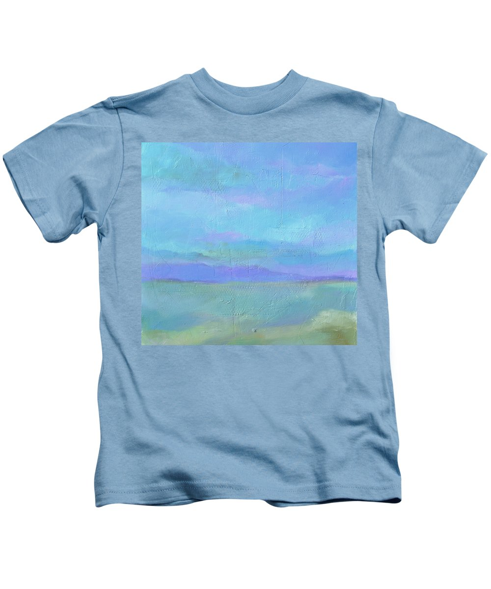 Painting Of Sunset Kids T-Shirt featuring the painting Quiet Moment by Filomena Booth