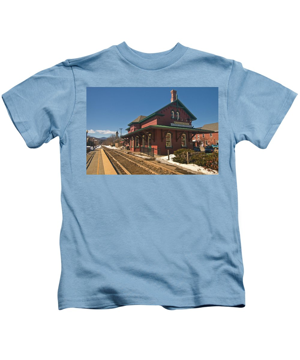 vermont Images Kids T-Shirt featuring the photograph Randolf Depot by Paul Mangold
