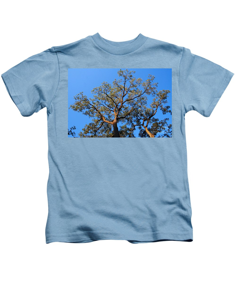 Blue Sky Kids T-Shirt featuring the photograph Realization by Jamie Lynn