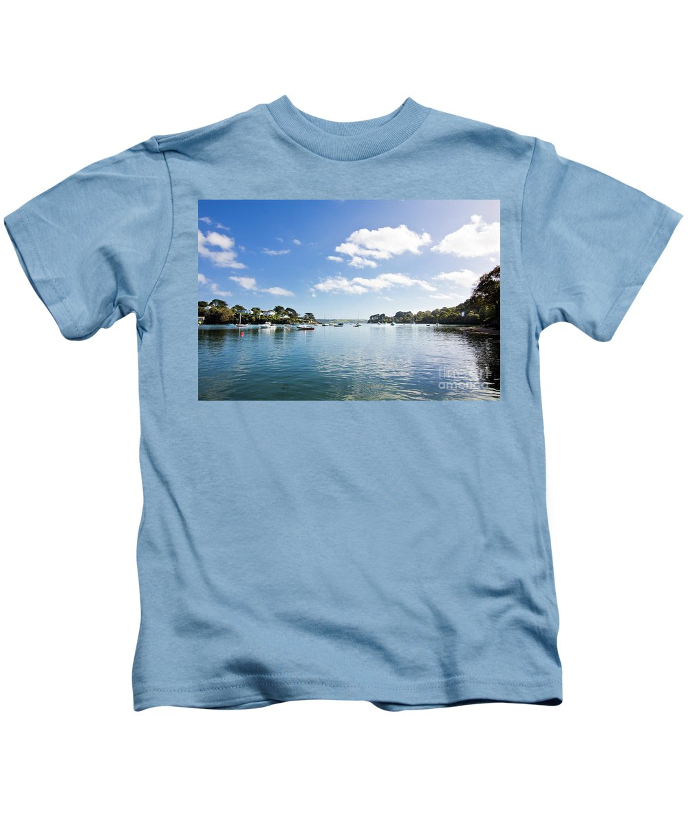Restronguet Kids T-Shirt featuring the photograph Restronguet Creek In Autumn by Terri Waters