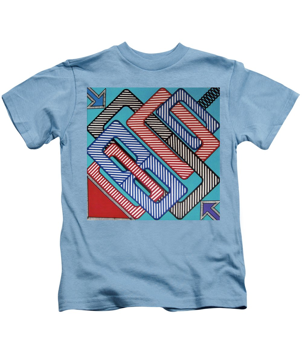 Kids T-Shirt featuring the drawing Rfb0627 by Robert F Battles