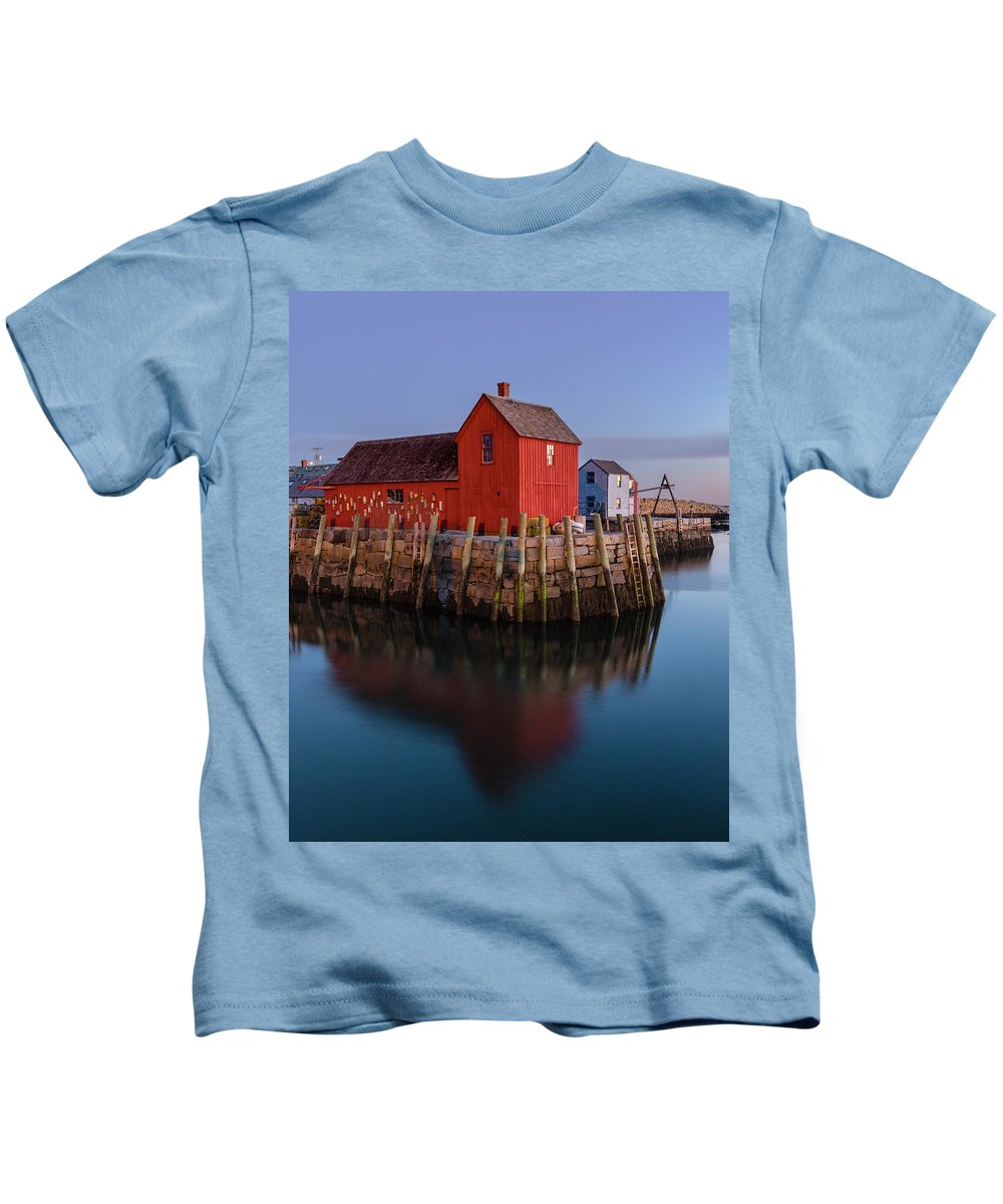 Rockport Kids T-Shirt featuring the photograph Rockport Ma Fishing Shack - #1 by Stephen Stookey