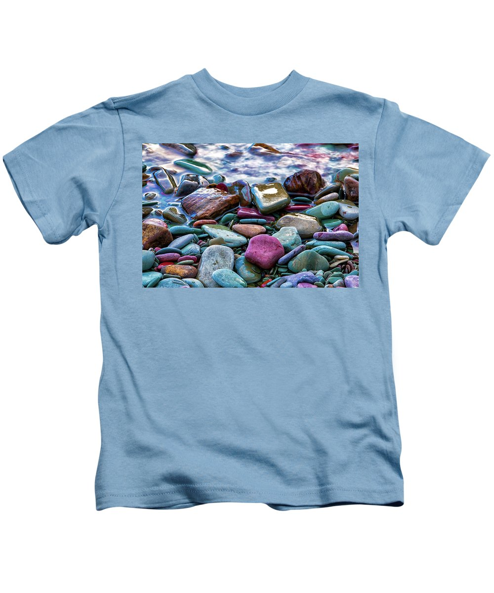 Colorful Rocks Kids T-Shirt featuring the photograph Rocks by Carol Ward