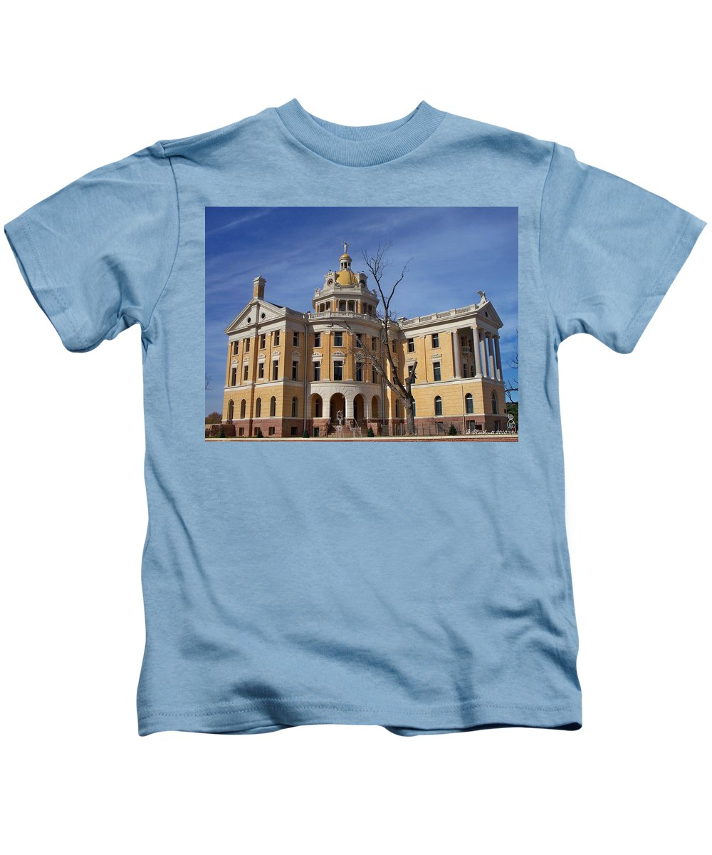 Architecture Kids T-Shirt featuring the photograph Romanesque by Betty Northcutt