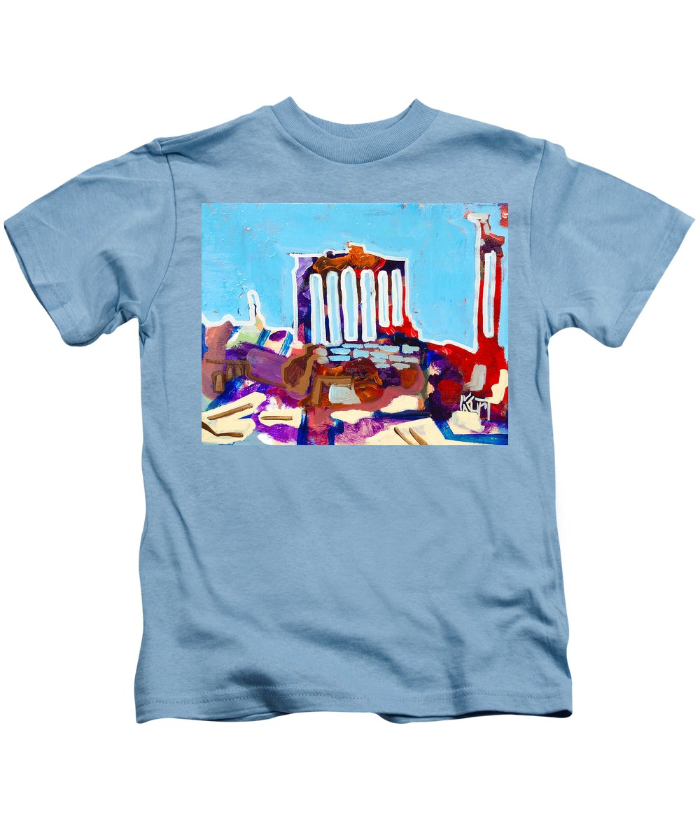 Rome Kids T-Shirt featuring the painting Rome by Kurt Hausmann