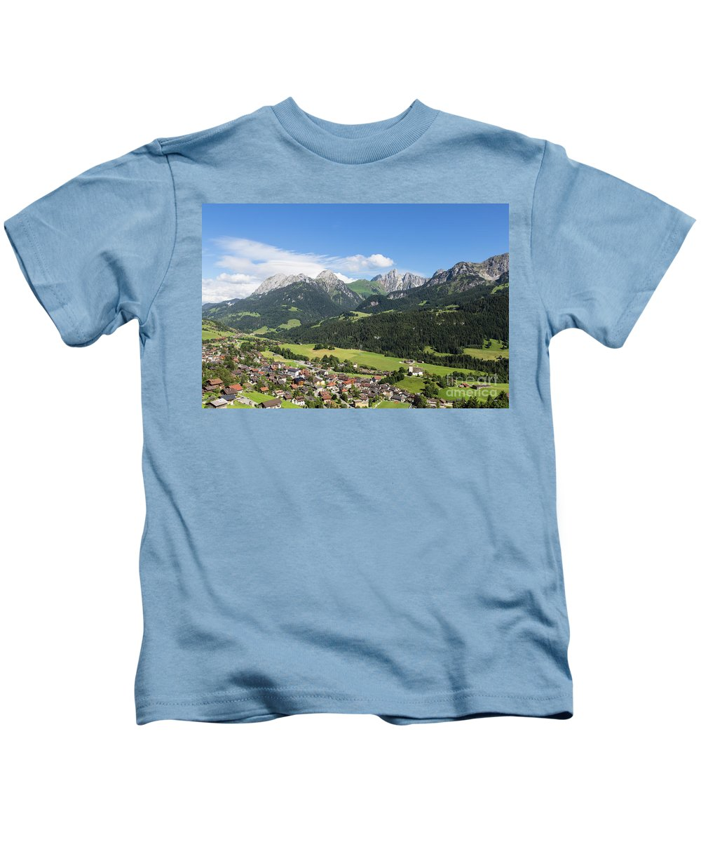 Europe Kids T-Shirt featuring the photograph Rougemont Village In Switzerland by Didier Marti