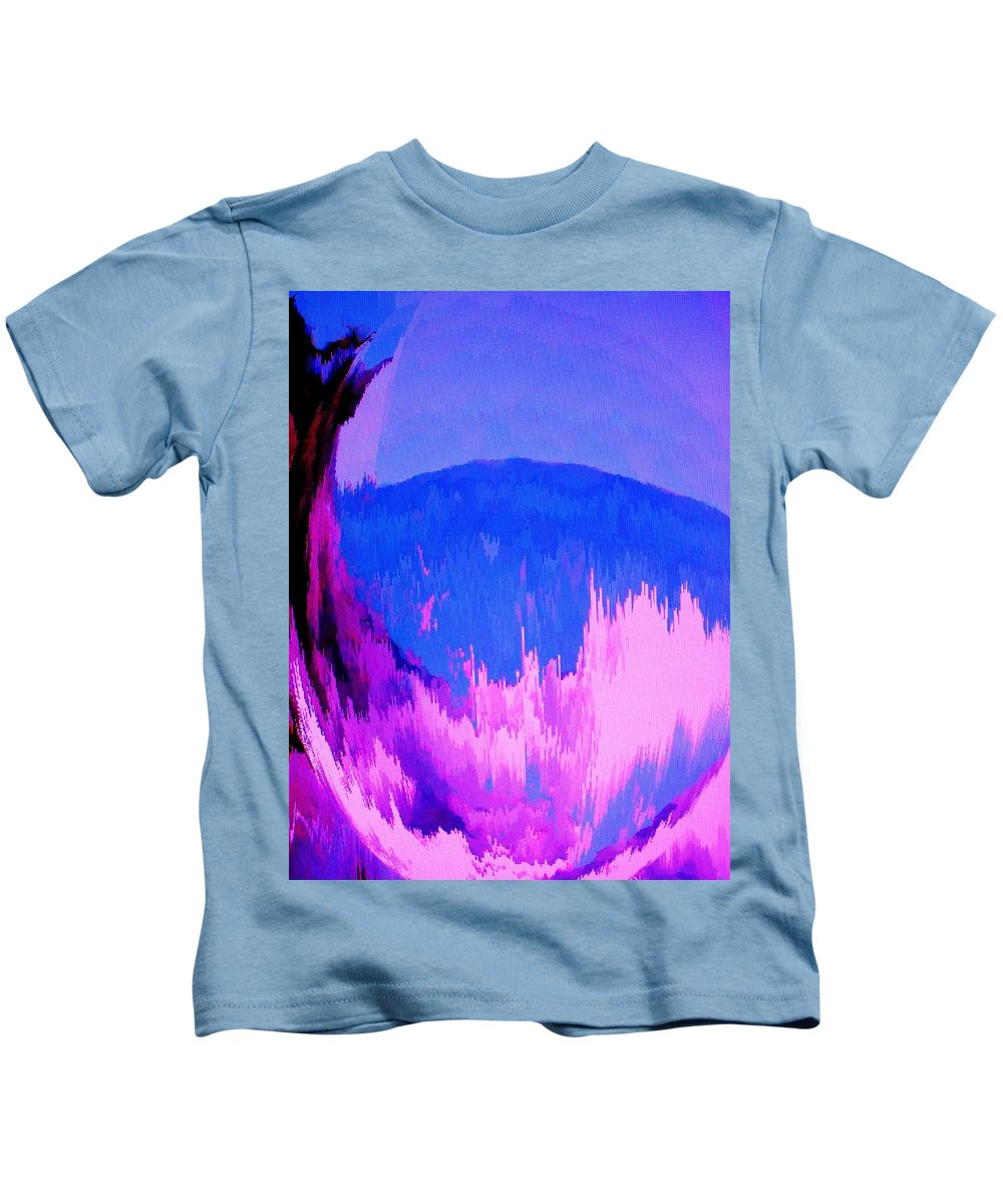 Abstract Kids T-Shirt featuring the digital art Rough Seas In Dominica by Ian MacDonald