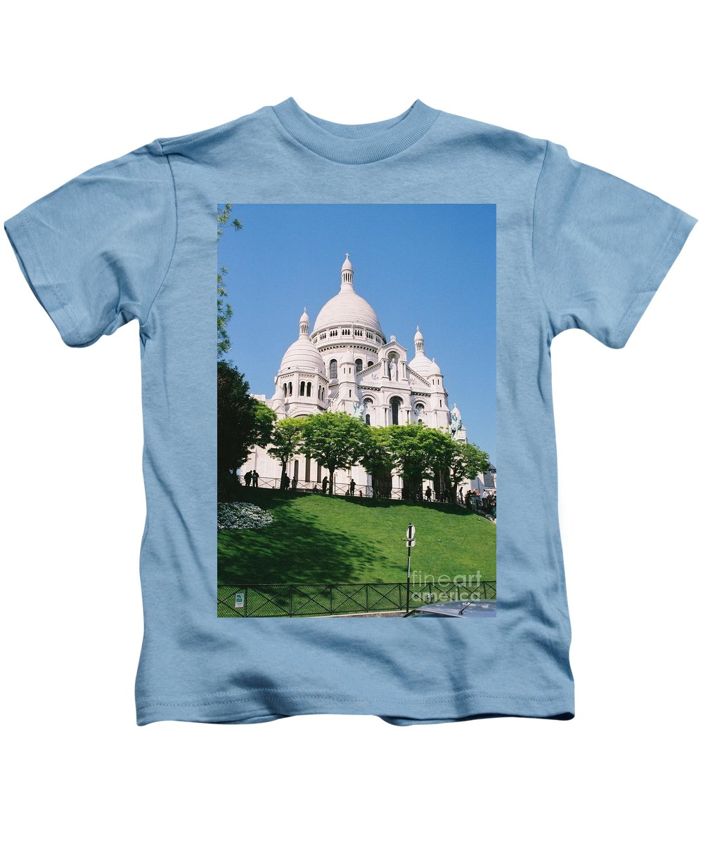 Church Kids T-Shirt featuring the photograph Sacre Coeur by Nadine Rippelmeyer