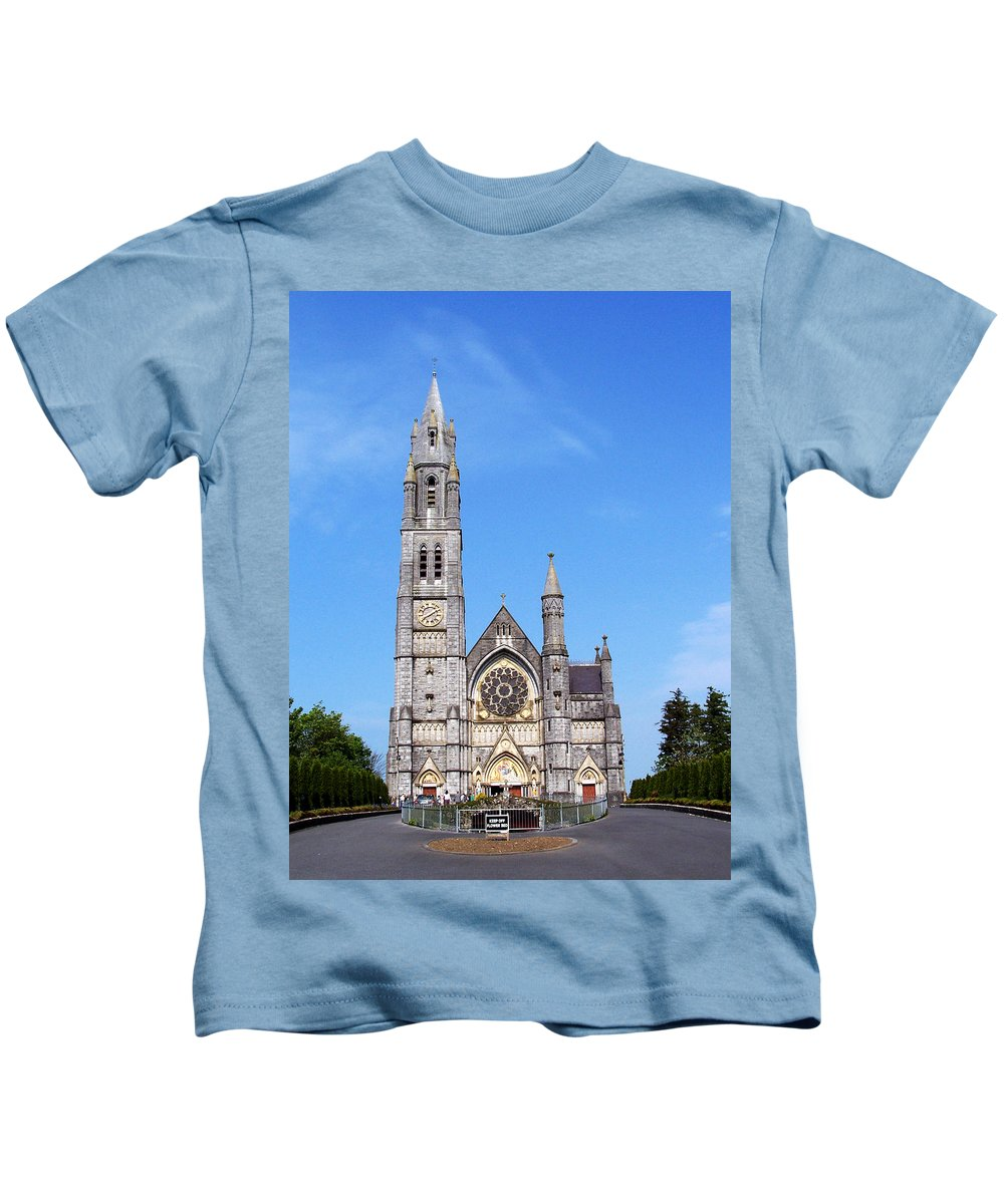 Ireland Kids T-Shirt featuring the photograph Sacred Heart Church Roscommon Ireland by Teresa Mucha
