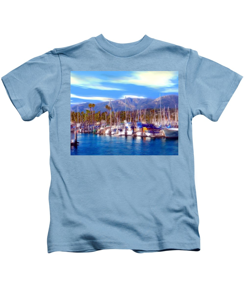 Charbor Kids T-Shirt featuring the photograph Safe Haven by Kurt Van Wagner