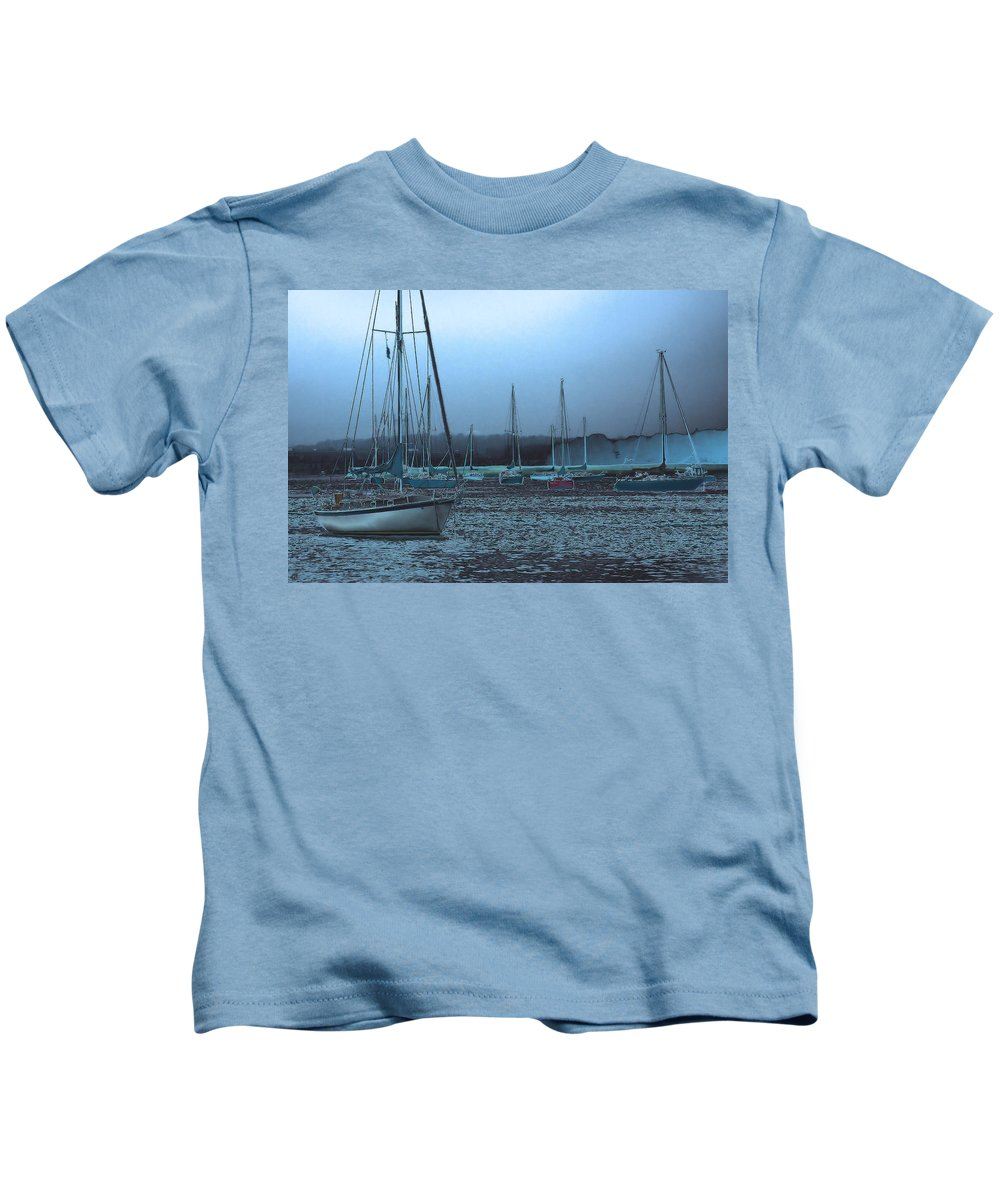 Boats Kids T-Shirt featuring the photograph Sailboat Harbor by Karol Livote