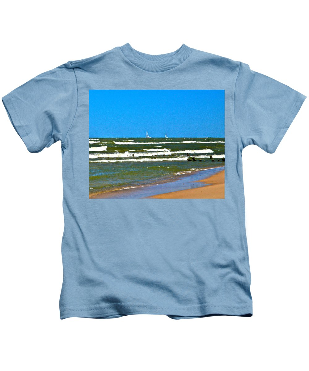 Water Kids T-Shirt featuring the photograph Sailing Away by Robert Pearson