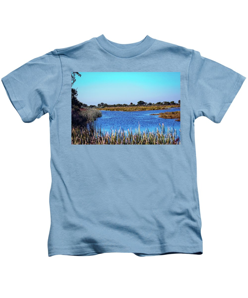 Nature Kids T-Shirt featuring the photograph Saint Marks National Wildlife Refuge Lagoon by Bill And Deb Hayes