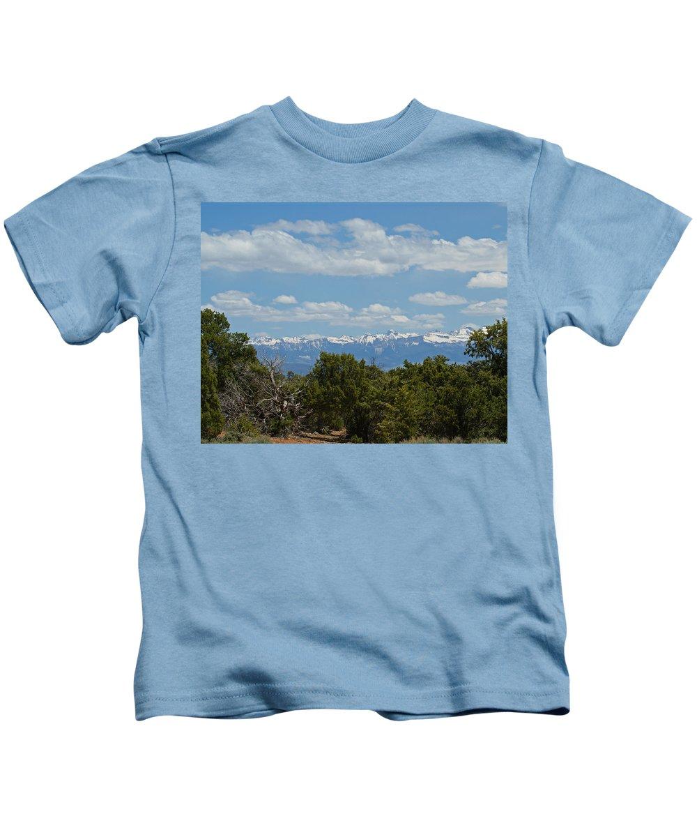 Art Kids T-Shirt featuring the photograph San Juan Mountains by Ernie Echols
