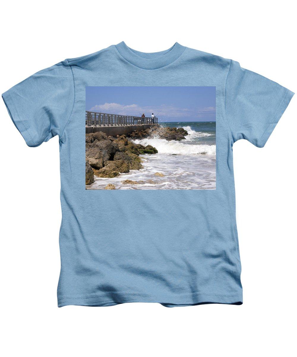 Florida Kids T-Shirt featuring the photograph Sebastian Inlet In Florida by Allan Hughes