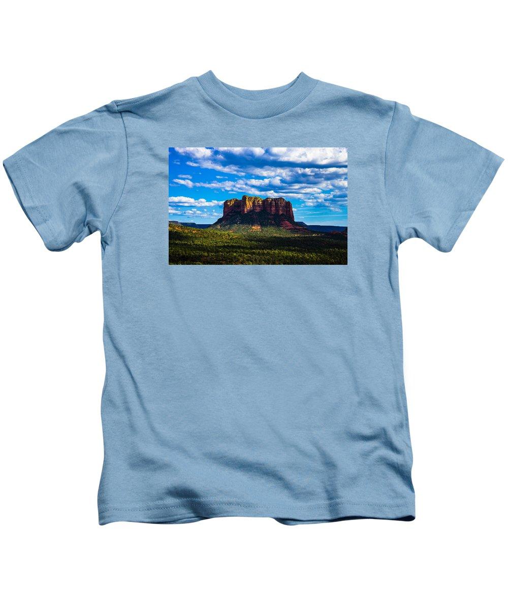 Sedona Kids T-Shirt featuring the photograph Sedona by Len Morales Jr