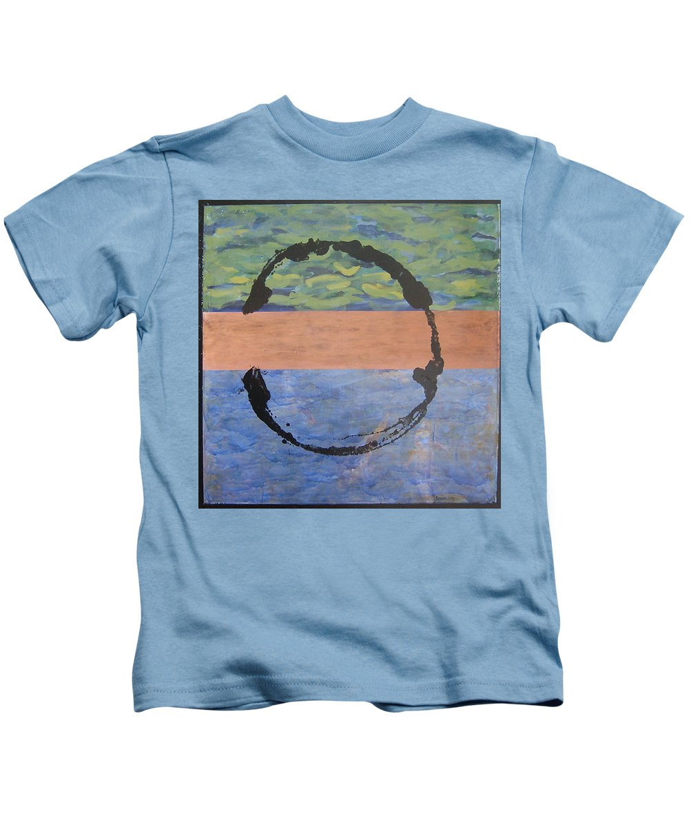 Serenity Kids T-Shirt featuring the painting Serenity by Ellen Beauregard