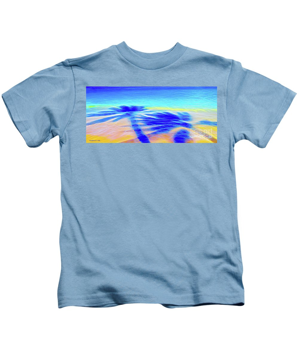 Shadow Kids T-Shirt featuring the photograph Shadows In The Surf by Jerome Stumphauzer