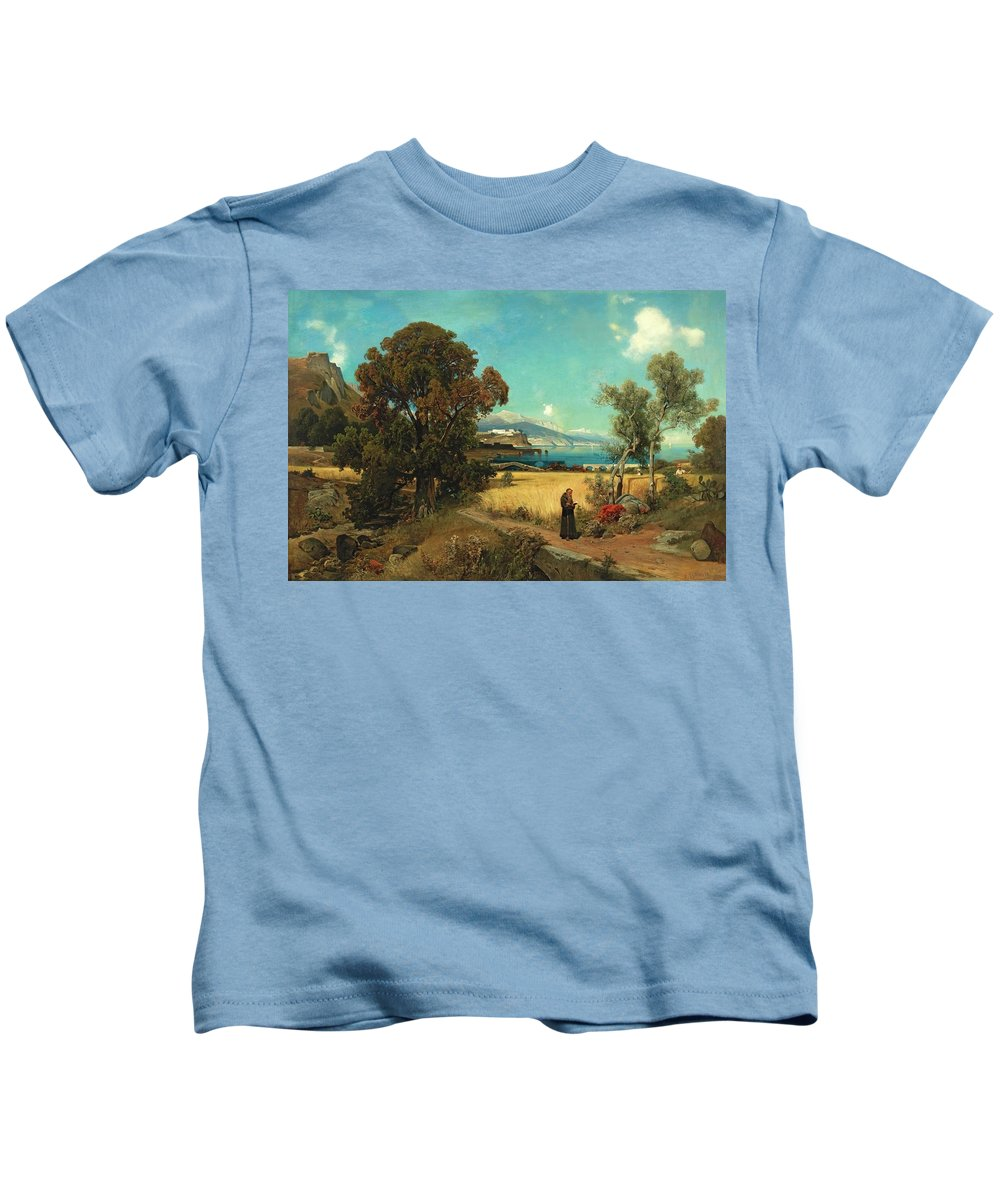 Ascan Lutteroth - Sicilian Scene Kids T-Shirt featuring the painting Sicilian Scene by MotionAge DesiLutteroth gns