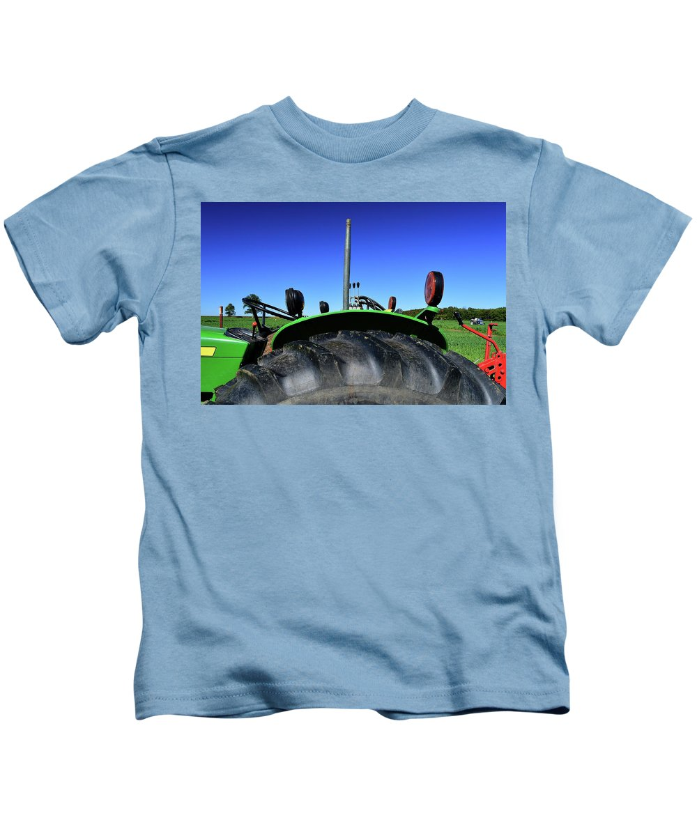 Tractor Kids T-Shirt featuring the photograph Side View Two by Lyle Crump