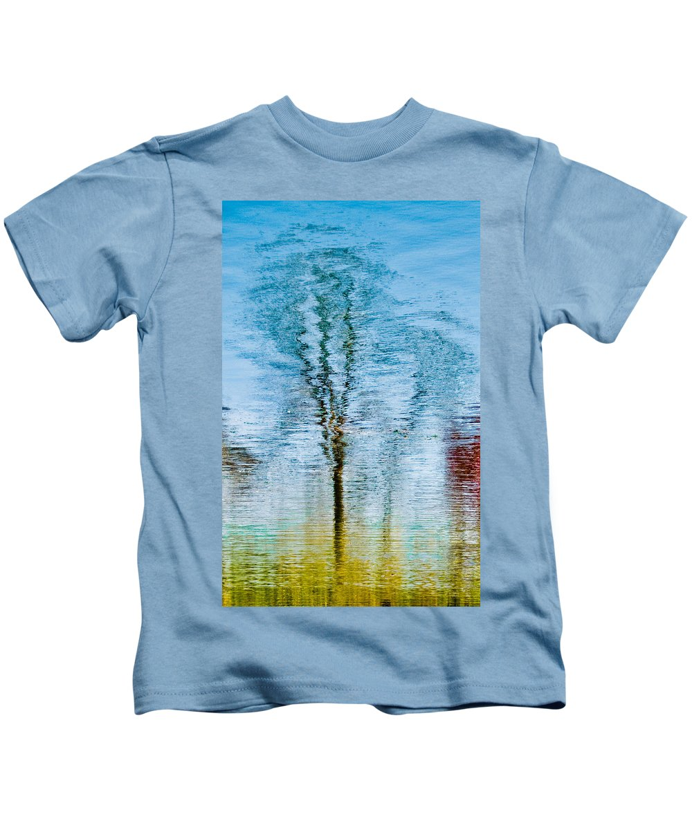 Silver Kids T-Shirt featuring the photograph Silver Lake Tree Reflection by Michael Bessler
