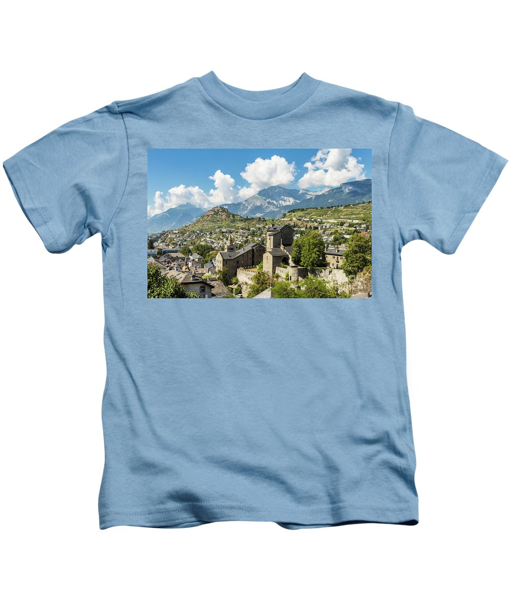 Europe Kids T-Shirt featuring the photograph Sion Old Town In Switzerland by Didier Marti