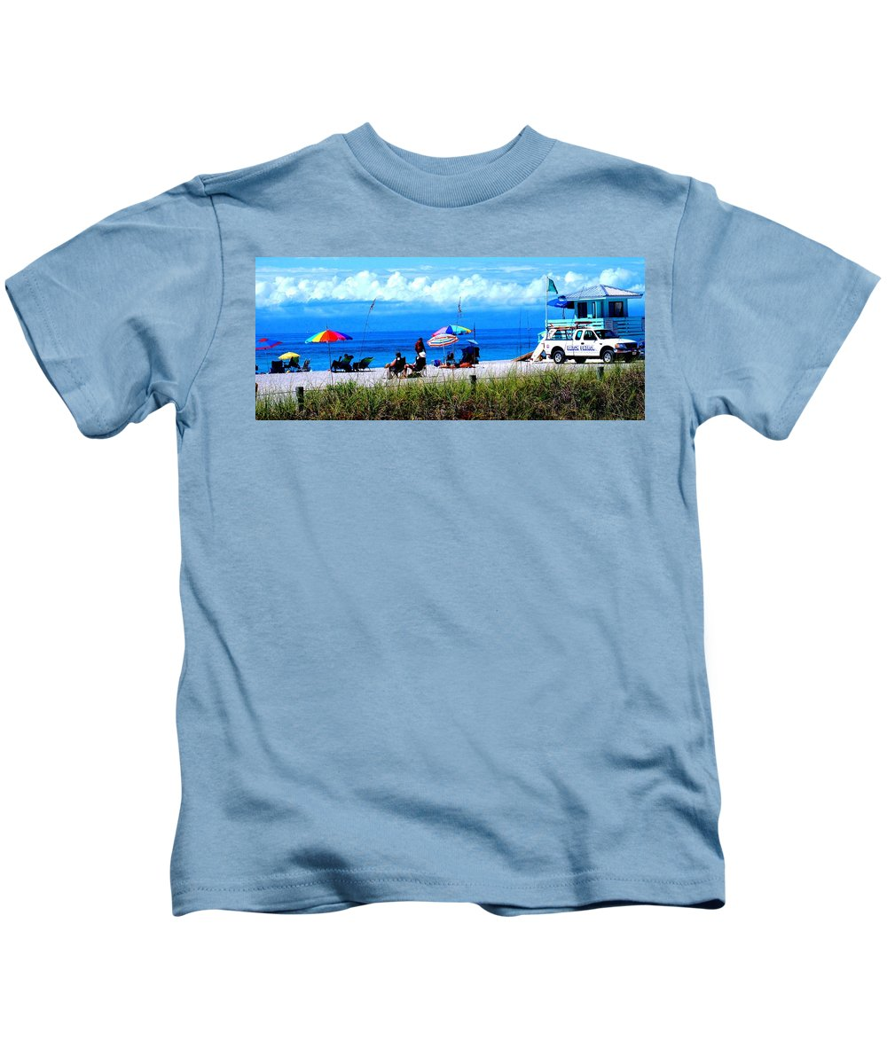 Venice Kids T-Shirt featuring the photograph Slice Of Venice Beach by Ian MacDonald